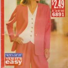Butterick Sewing Pattern 6891 Misses Size 6-8-10 Easy Unlined Jacket Top City Walking Shorts