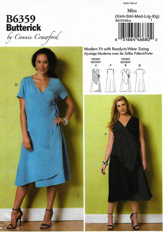 Butterick Sewing Pattern 6359 Womens Plus Size 18w 44w