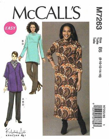 McCall's Sewing Pattern 7263 Womens Plus Sizes 18W-24W Easy Knit Cardigan Tunic Dress Pants