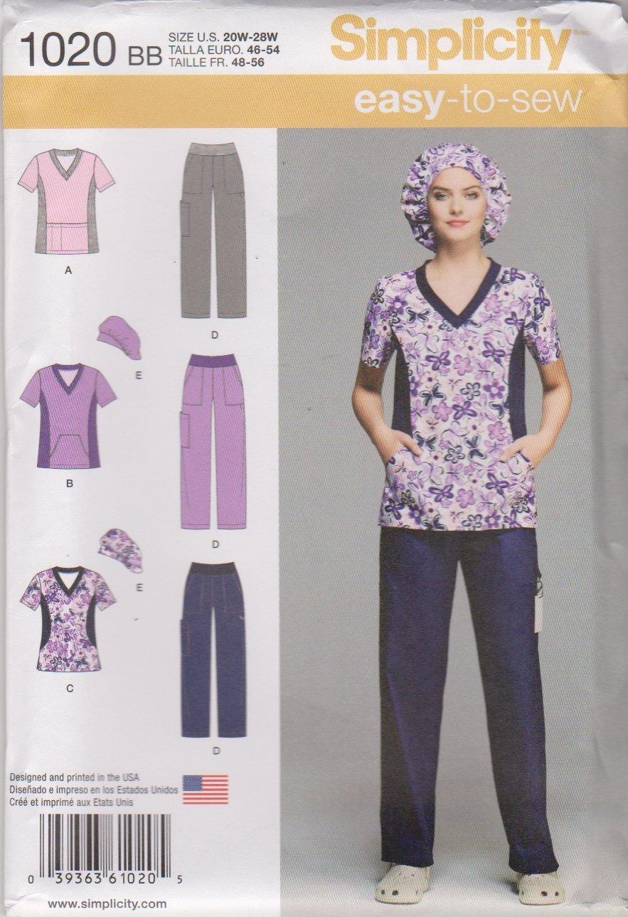 Simplicity Sewing Pattern 1020 Women S Plus Sizes 20w 28w