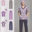 Simplicity Sewing Pattern 1020 Women's Plus Sizes 20W-28W Easy Scrub Pants Tops Hat Uniform