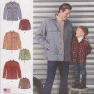 Simplicity Sewing Pattern 1328 Boys S - L Men's S-XL Long Sleeves Shirt Jackets