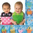 Simplicity Sewing Pattern 2468 Baby Infants Decorated Bibs