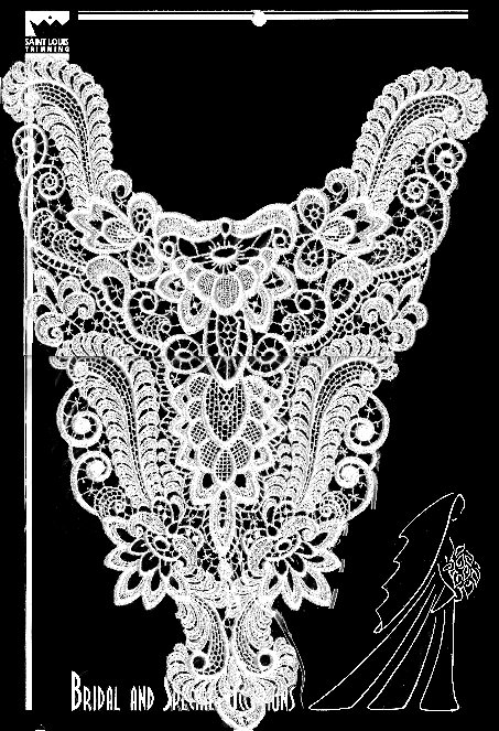 Saint Louis Trimming Lace Piece #1936 Wedding Bridal Basque Bodice