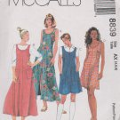McCall's Sewing Pattern 8839 Misses Size 4-8 Dress Long Short Flared Jumper