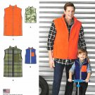 Simplicity Sewing Pattern 1329 Boys S - L Men's S-XL Zipper Front Lined Unlined Vest