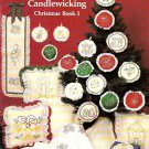 Candlewicking Christmas Book I ShariAne B239 Ornaments Pillows Wall Hangings Booklet