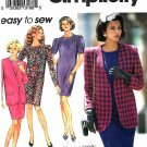 Simplicity Sewing Pattern 8110 Misses Sizes 20-26 Easy Straight Dress Lined Jacket