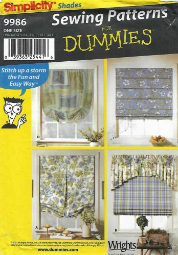 Simplicity Sewing Pattern 9986 Window Treatments Shades Valances Curtains
