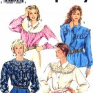 Simplicity Sewing Pattern 8026 Misses Sizes 18-24 Button Front Long Sleeve Blouses