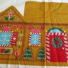 A GingerBear Christmas Soft Sculpture Gingerbread House VIP Cranston Print Works Christmas