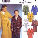 Simplicity Sewing Pattern 9941 Boys Girls Size 7-8-10  Wrap Front Hooded Bath Robes