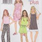 Butterick Sewing Pattern 3860 Girls Size 7-14 Easy Summer Wardrobe Dress Top Shorts Cropped Pants
