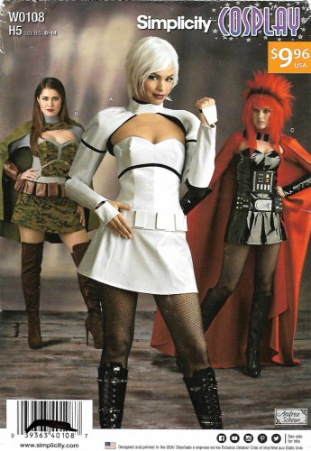 Simplicity Sewing Pattern W0108 0108 8201 Misses Size 6-14 Cosplay Intergalactic Costumes