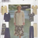 Simplicity Sewing Pattern 8001 Womens Plus Size 18W-24W Button Front Tunic Flared Skirt Pants