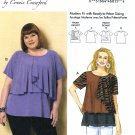 Butterick Sewing Pattern 6396 Misses Size 3-16 Connie Crawford Pullover Top Blouse