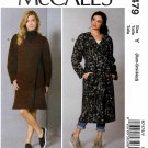 McCall's Sewing Pattern 7479 Misses Size 4-14 Easy Wrap Front Coat Belt