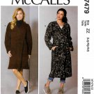 McCall's Sewing Pattern 7479 Misses Size 16-26 Easy Wrap Front Coat Belt