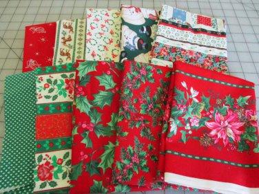 Moonwishes Stash Builders Christmas Fat Quarters #MW-CSB-001 Assorted Handcut Fabrics