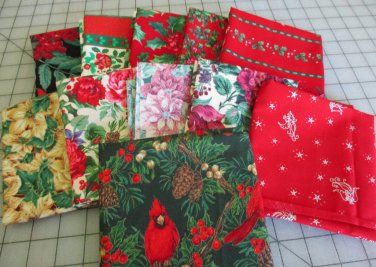 Moonwishes Stash Builders Christmas Fat Quarters #MW-CSB-002 Assorted Handcut Fabrics