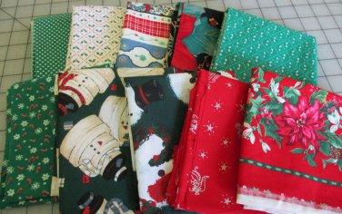 Moonwishes Stash Builders Christmas Fat Quarters #MW-CSB-003 Assorted Handcut Fabrics