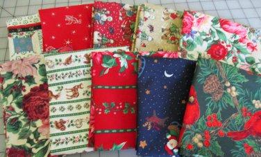 Moonwishes Stash Builders Christmas Fat Quarters #MW-CSB-004 Assorted Handcut Fabrics