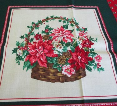 """Moonwishes Stash Builders Christmas 2 15"""" x 15"""" Christmas Basket Pillow Top #003 Cotton"""