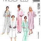 McCalls Sewing Pattern 8525 Misses Size 4-14 Nightgown Pajamas Pants Top Jumpsuit