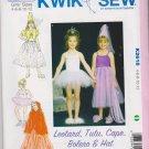Kwik Sew Sewing Pattern 2618 K2618 Girls Sizes 4-12 Costumes Leotard TuTu Cape Bolero Hat Dance