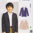 Kwik Sew Sewing Pattern 3697 Boys Size 4-14 Blazer Jacket Sport Coat