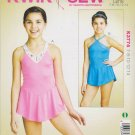 Kwik Sew Sewing Pattern 3774 Girls Size 7-14 Skirted Leotards Dance Gymnastics Skating