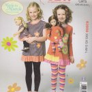 Kwik Sew Sewing Pattern 3958 Girls Size 3-10 Knit Tops Leggings