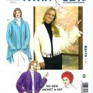 Kwik Sew Sewing Pattern 3173 Misses Sizes 12-22 No Sew Jacket Hat Sewn Shawl