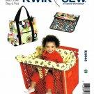 Kwik Sew Sewing Pattern 3643 Baby Travel Supplies Diaper Bag Changing Pad Cart Seat Liner