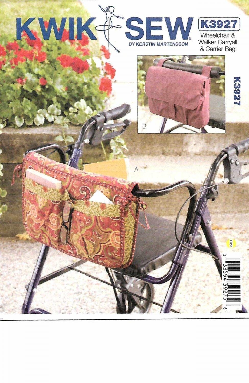 Kwik Sew Sewing Pattern 3927 Wheelchair Walker Carryall Carrier Bag