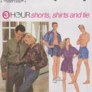 "Simplicity Sewing Pattern 8150 Misses Mens Unisex Chest Size 42-48"" Shorts Button Front Shirt Tie"
