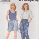 Simplicity Sewing Pattern 8254 Misses Size 10-20 Easy Shorts Pants Tank Top T-Shirt