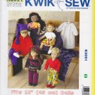"Kwik Sew Sewing Pattern 3091 Doll Clothes Wardrobe 18"" Dolls"