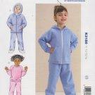 Kwik Sew Sewing Pattern 3150 Boys Girls Size T1-T4 Sweatsuit Pants Top Zipper Front Jacket Hoodie