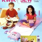 Kwik Sew Sewing Pattern 4047 Children's Dog Cat Sleeping Bag