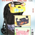Kwik Sew Sewing Pattern 4184 Baby Stroller Organizer Bags Applique