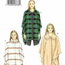 Vogue Sewing Pattern 9211 V9211 Misses Sizes 4-14 Easy Capes Snap Closure Collar Options
