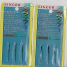 Singer Overlock Machine Regular Point Needles Style 2054-42 Size 70/10  BLx1 JLx1