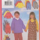 Butterick Sewing Pattern 5164 Boys Girls Size 5-6X Easy Wardrobe Top Jumpsuit Overalls Pants Hoodie