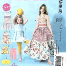 McCall's Sewing Pattern 6549 M6549 Girls Sizes 7-14 Easy Tiered Skirt Dress Top Leggings Jacket