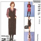 McCall's Sewing Pattern 7878 M7878 Misses Sizes 8-12 2-Hour Jumper Length Options Blouse