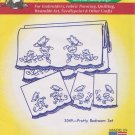 Aunt Martha's Hot Iron Transfers Pretty Bedroom Set 3049 Flowers Butterflies Embroidery