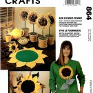 McCall's Sewing Pattern 6836 Sunflower Power Crafts Fashion Accessories