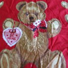 Moonwishes Stash Builders #006 Valentine's Day Teddy Bear Fabric Panel
