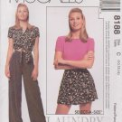 McCall's Sewing Pattern 8188 Misses Sizes 10-14 Knit T-Shirt, Skorts Shirt Pants